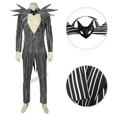The Nightmare Before Christmas Cosplay Jack Skellington Costume Halloween Outfit](Jack Skellington Outfit)