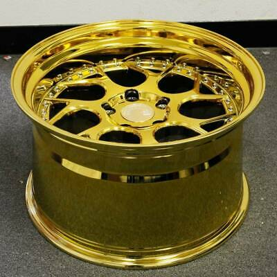 "19x10.5 Aodhan DS01 5x114.3 +22 Vacuum Gold Wheels 19"" Rims (Set of 4)"