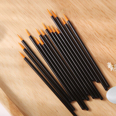 100Pcs Makeup Tool Disposable Eyeliner Liquid Wand Applicator Brush US03 GO9X