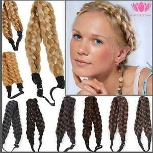 Adjustable natural Braided Hair Headband,Hair extensions