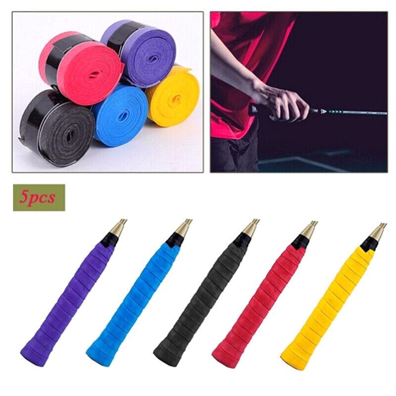 5xAnti Slip Racket Over Grip Roll Tennis Badminton Squash Handle Tape Random UK