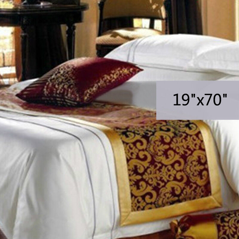 Home Hotel Bedding Tail Runner Towel Bed Duvet End Cover Comfortable 9 Colors FS