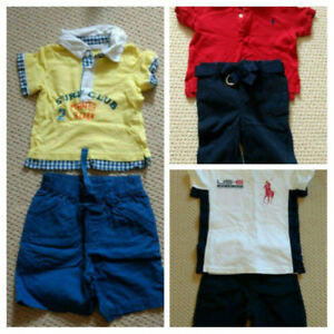 Baby Boy Outfits (Matching t-shirts & Shorts) 3- 9 Months
