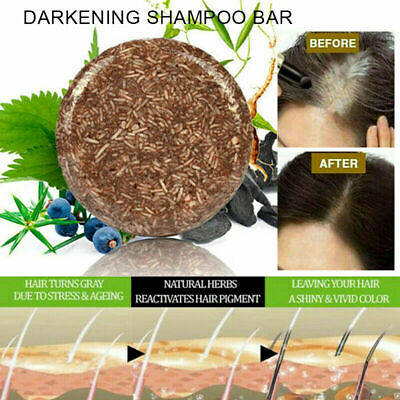 Soap Hair Darkening Shampoo Bar 100% Natural Organic Conditioner and Repair