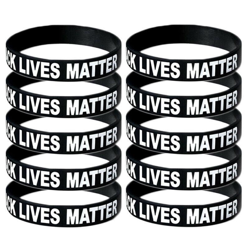 BLACK LIVES MATTER Silicone Wrist Band Bracelet Wristband S