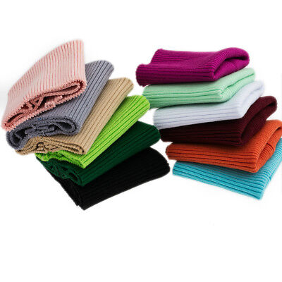 (Cotton Thick Stretch Knit Sweater Arms Cuff Leg Rib Jersey Ribbed Trim Fabric)