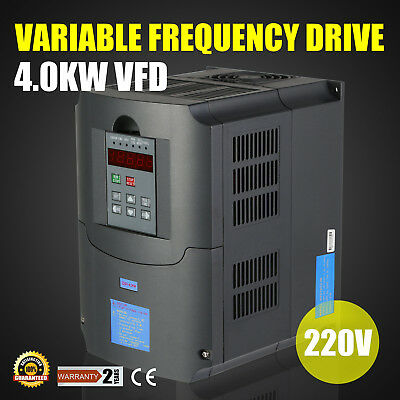 New 4kw 5hp Vfd 220v Single Phase Variable Speed Drive Vsd Drive Inverter