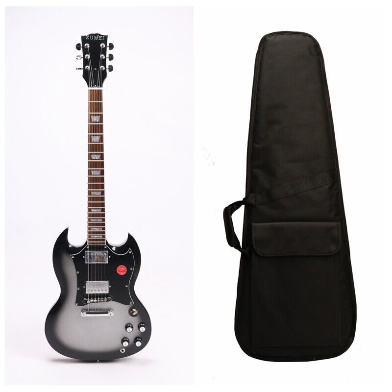 SGS Electric Guitar Chrome Hardware T-O-M Bridge Include Soft Gigbag Gray Colour