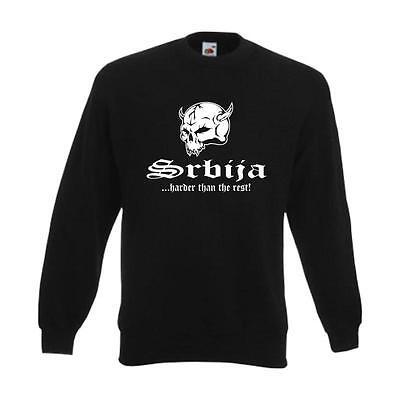 Sweatshirt SERBIEN (Srbija) harder than the rest Pullover Fan Pulli (WMS05-57c)
