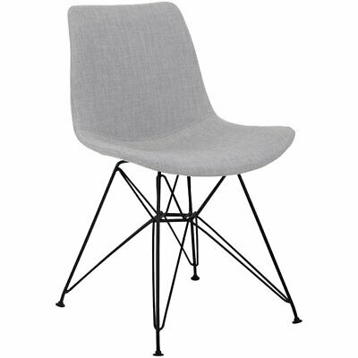 Armen Living Palmetto Upholstered Dining Side Chair in Gray