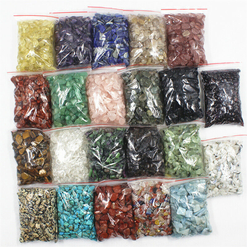 Jewellery - 10g-100g Natural Gemstone Tumbled Crystal Chips Chakra Wicca Jewelry Craft