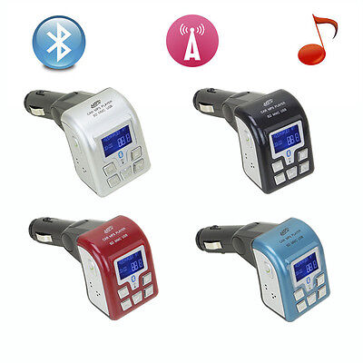 LCD Bluetooth Car Kit MP3 Player FM Transmitter Modulator SD USB with Remote on Rummage