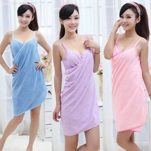 New Wearable Towel Dress Women Fast Drying Beach Spa Magical