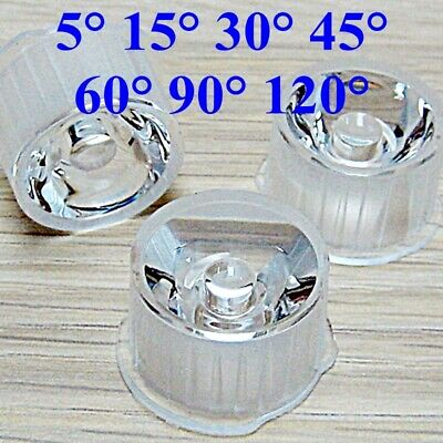 Us 820pcs 51530456090120 Degree Led Lens Clear Collimator Waterproof