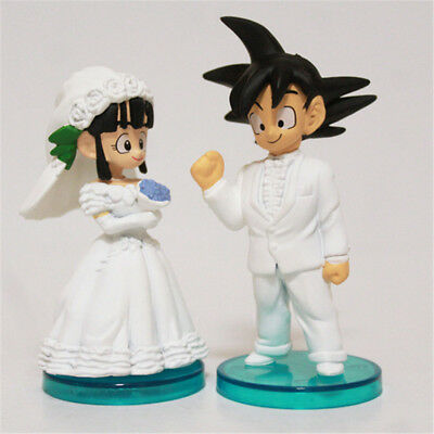 Dragon Ball Z 8CM Son Goku/Gokou & ChiChi Figure Toys Wedding Cake Topper