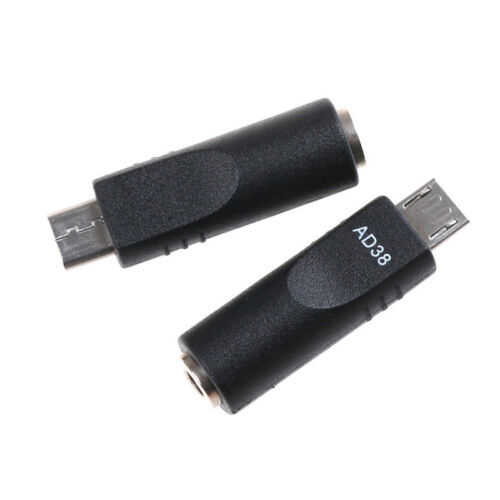 2pcs 3.5mm X 1.1mm Female To Micro USB 5 Pin Male DC - Converter Charger AdaptVV - $5.63