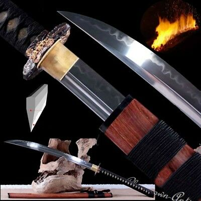 Demon Blade Cursed Sword Naginata T10 Steel Clay Tempered Gunome Nie Blade #484 for sale  Shipping to Canada