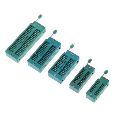 16 20 24 28 40 P Pin 2.54mm Green Dip Test Universal Zif Ic Socket Welding Type