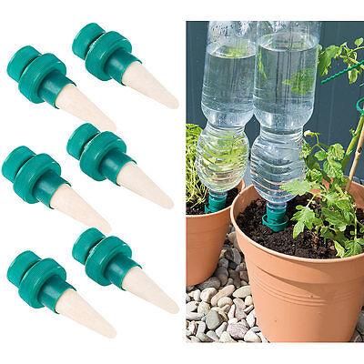 Pflanzen-Bewässerungssystem mit Tonspitze und Flaschenaufsatz, 6er-Set
