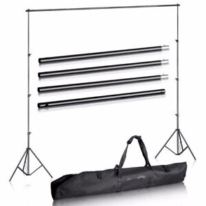 Photography 10' Wide x 7' FT High Background Stand with Bag