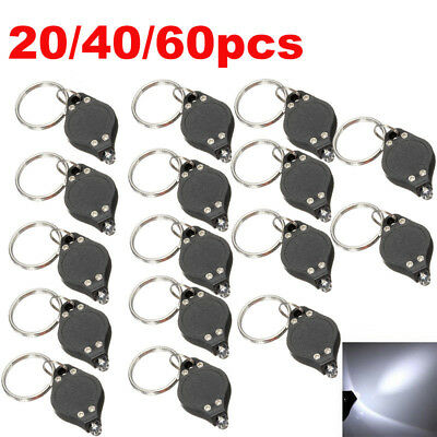 Lot Bright Mini White Keychain LED Light Lamp Key Ring Flash Flashlight Torch US - Led Keychain