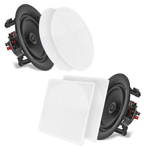 PYLE-HOME PDIC106 In-Wall/in-Ceiling 10.0-Inch Dual Stereo Speak