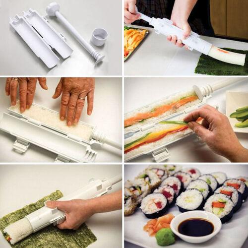 Sushi Bazooka Kitchen Appliance Gourmet Cooking Shape Tube Easy Food Maker KY