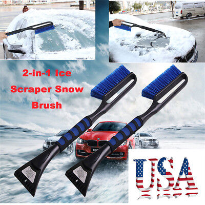 New Ice Scraper with Brush Car Windshield Snow Removal Frost Broom Cleaner Tool