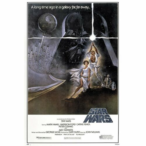 STAR WARS - A NEW HOPE MOVIE POSTER - 24x36 CLASSIC VINTAGE 49557
