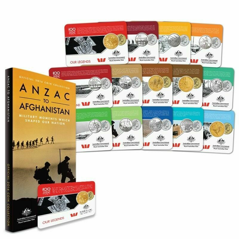 2016 ANZAC TO AFGHANISTAN MILITARY MOMENTS CARDED COIN COLLECTION #56741