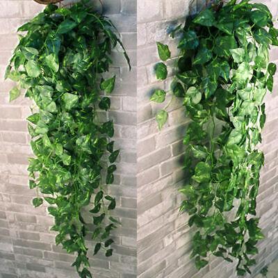 Home Decoration - 2x Artificial Vine Fake Foliage Flower Hanging Leaf Garland Plants Home Decor