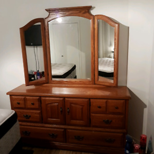 8 Piece bedroom set  $250.00