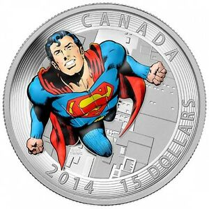 3/4 oz 2014 Canadian - Superman Comic Book Covers #419 $15