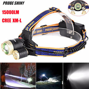 Zoomable 15000LM XM-L T6 LED 18650 Headlamp Headlight Head Light