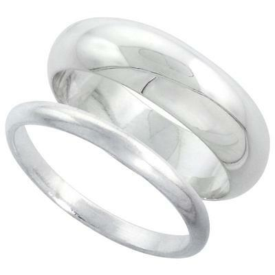 Ring - Sterling Silver Plain Band Comfort Fit Ring Solid 925