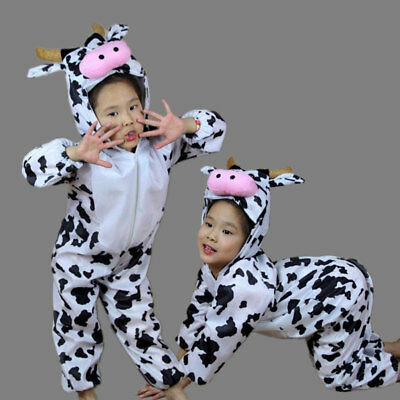 Children Kids Toddler Cartoon Animal Milk Cow Costume Performance for Boys Girls - Cow Costume For Girls
