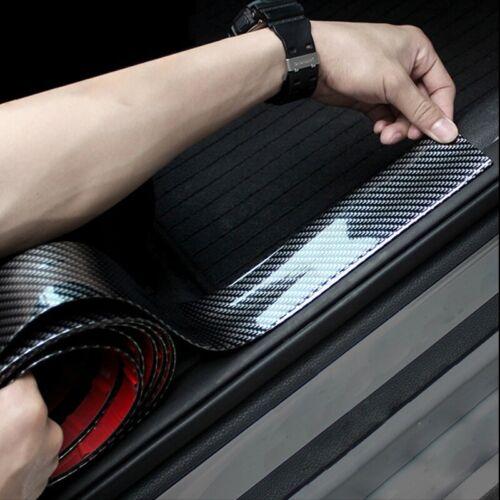 """Car Parts - 39""""*1.2"""" Carbon Fiber Car Trim Strip Bumper Trunk Lid Door Sill Protector Rubber"""