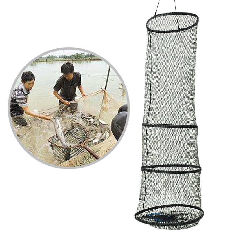4Layers Collapsible Fishing Basket Dip Net Fishing Cage Fishing Accessor Tool FB - 2
