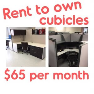 HAS YOUR BUSINESS BEEN Trumped? Look, NOW  RENT TO OWN CUBICLES