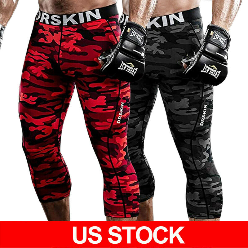 Mens Compression Base Layer Tops Thermal Shirt Leggings Trousers Joggers Pants