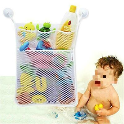 Baby Toy Mesh Storage Bath Bathtub Net Bag Tidy Hang Holder Kids Bathroom HS3