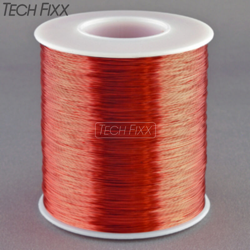 Magnet Wire 30 Gauge AWG Enameled Copper 2750 Feet Coil Winding 155°C Red