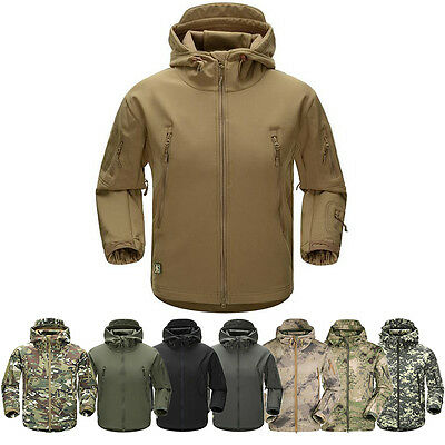 Men Outdoor Jacket Waterproof TAD Coat Shark Skin Soft Shell Hoodie Hunting ESDY