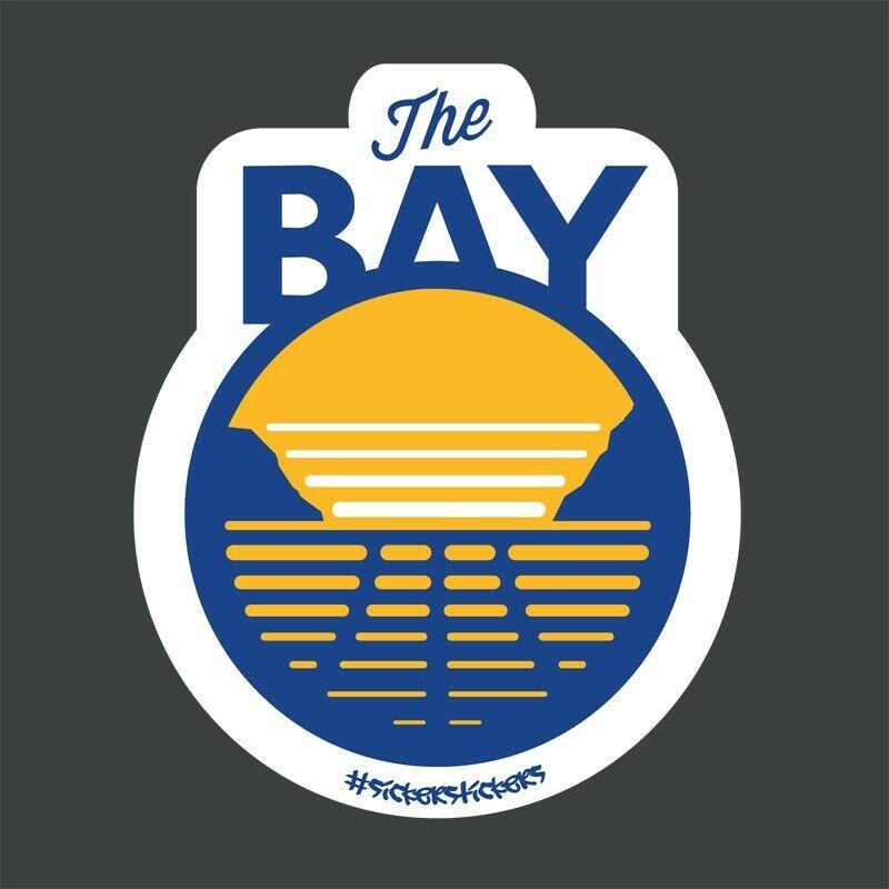 "The Bay Logo Sticker Decal In Gsw Colors - Represent The Bay Area- 3""l X 2.25""w"