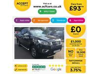 NISSAN NAVARA BLACK CREWCAB PICK-UP 2.3 2.5 DCI TEKNA FROM £93 PER WEEK!