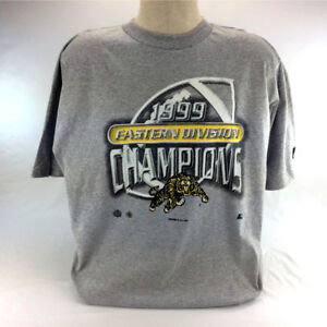 Vintage 90s Hamilton Tiger Cats Starter T Shirt CFL Sports 1999
