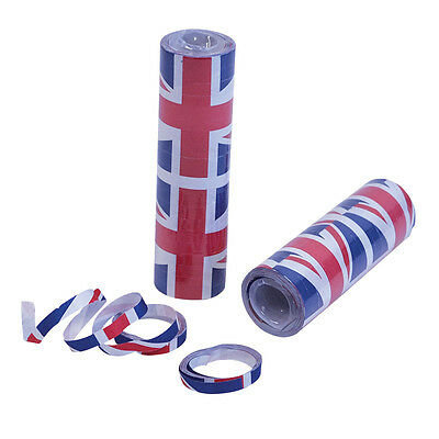 Union Jack Streamers Decoration Jubilee Olympics for fancy dress party 12 PIECES