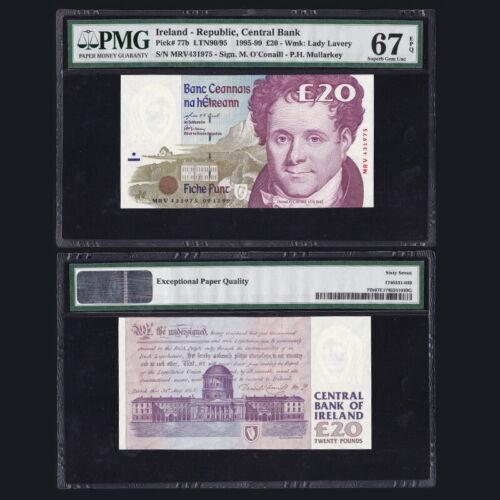 [PMG] Ireland 20 Pounds, 1999, P-77b, EPQ 67, Superb Gem UNC