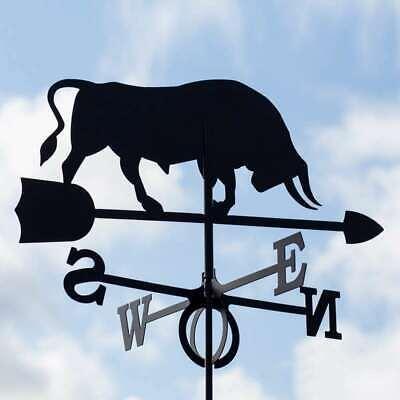 Large Black Steel Ox Weathervane