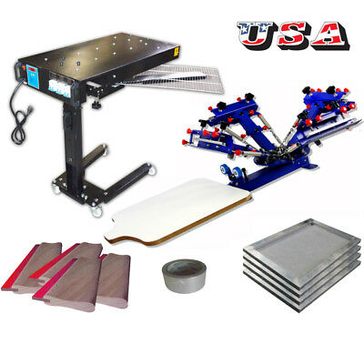4-1 Color Screen Printing Kit Micro-registration Press Pritner With Manual Tools